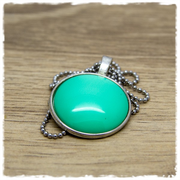 Kette 25mm einfarbig grün