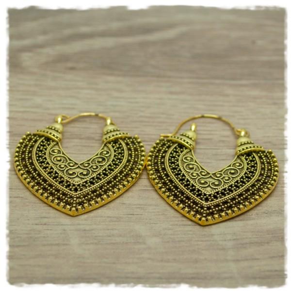 1 Paar Ohrhänger in 35 mm Boho gold-antik