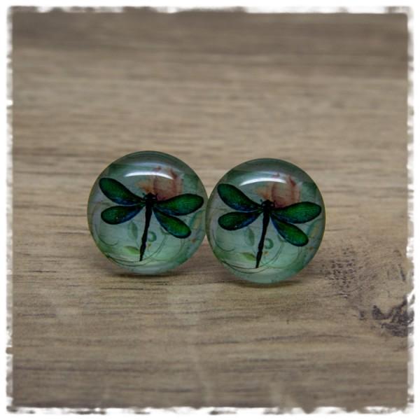 1 Paar Ohrstecker in 20 mm mit Libelle