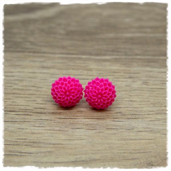 1 Paar Ohrstecker in 12 mm Blüte pink