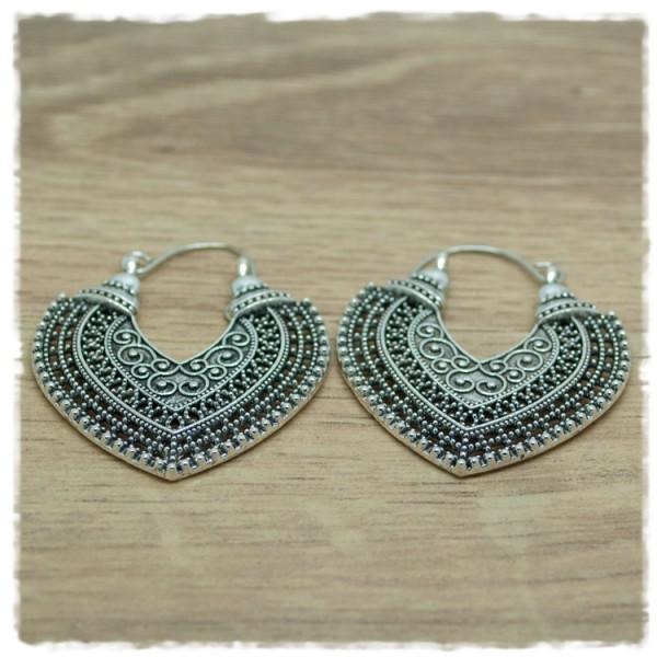 1 Paar Ohrhänger in 35 mm Boho silber-antik
