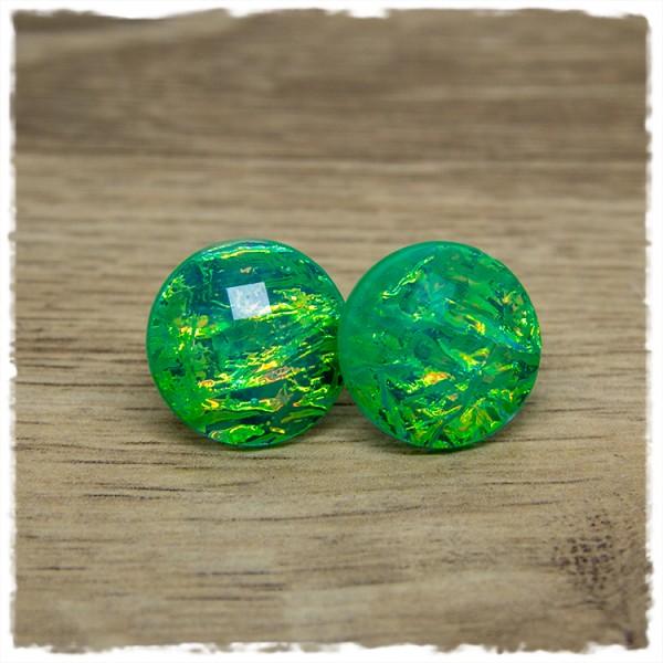 1 Paar Ohrstecker in 20 mm Mermaid grün