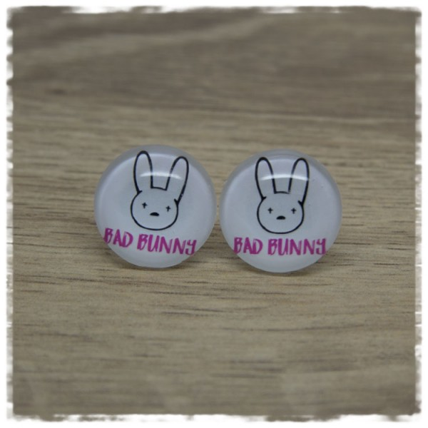 1 Paar Ohrstecker in 20 mm Bad Bunny pink