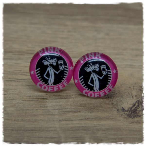 1 Paar Ohrstecker PINK COFFEE