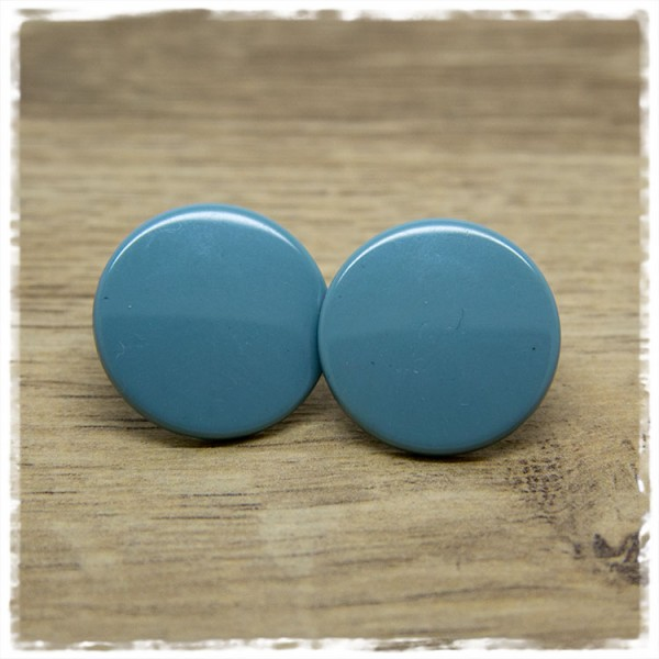 1 Paar Ohrstecker in 25 mm einfarbig grau