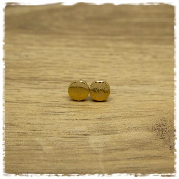 1 Paar Ohrstecker in 10 mm golden
