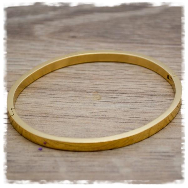 Armreif oval gold