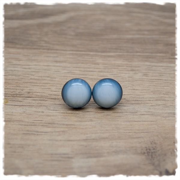 1 Paar Ohrstecker in 12 mm weiß schwarz