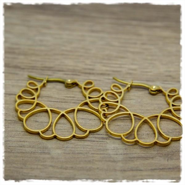 1 Paar Ohrhänger in 30 mm golden