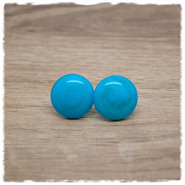 1 Paar Ohrstecker in 16 mm apua blue