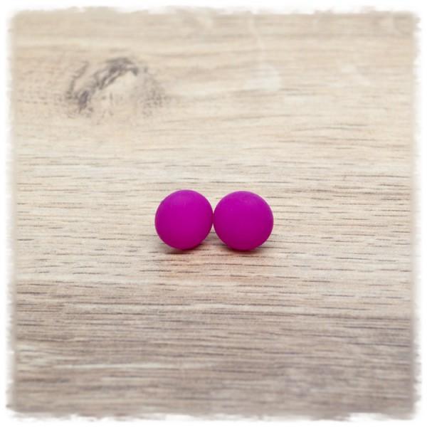 1 Paar Ohrstecker in 12 mm matt pink