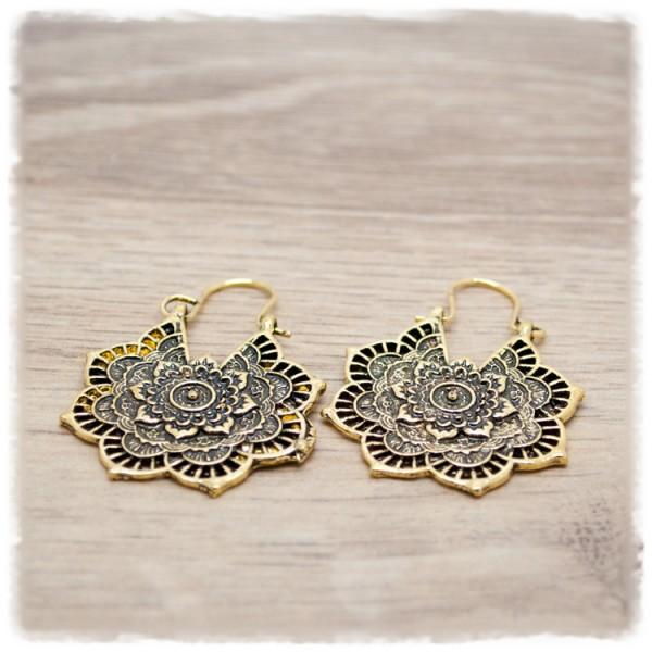 1 Paar Ohrhänger in 30mm Boho antik-gold