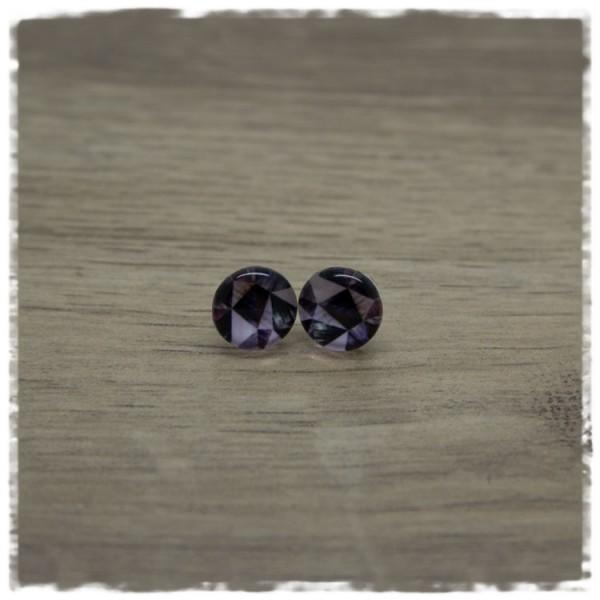 1 Paar Ohrstecker in 10 mm mit geometrischem Muster