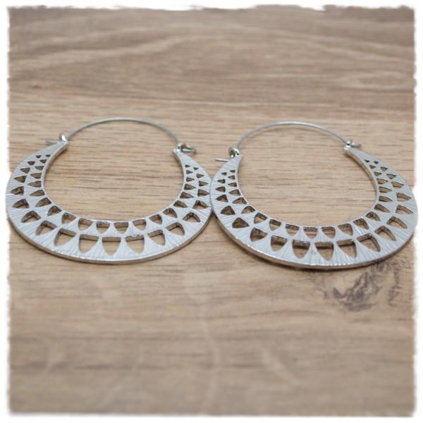 1 Paar Ohrhänger in 50 mm rund silber