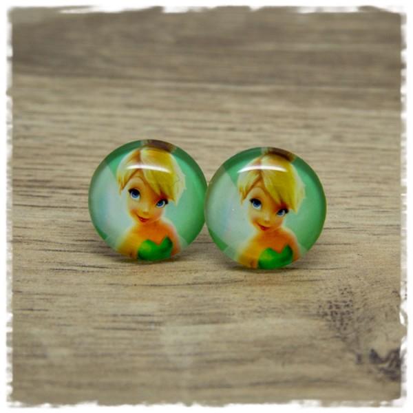 1 Paar Ohrstecker Elfe auf grünem Hintergrund