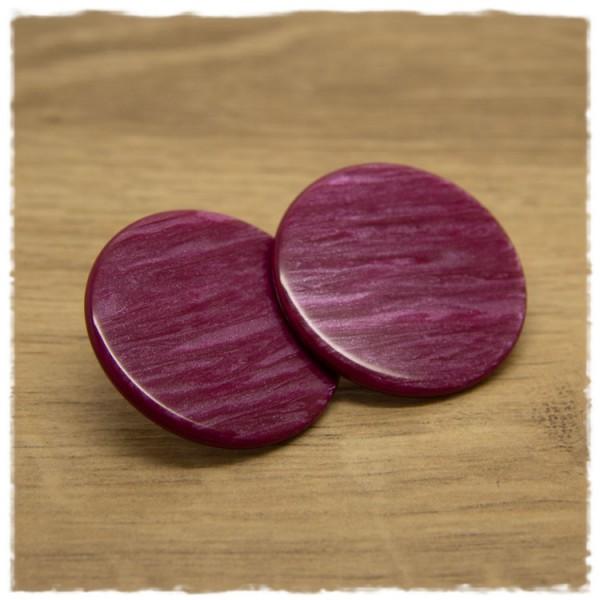 1 Paar flache Ohrstecker in 35 mm berry gemustert