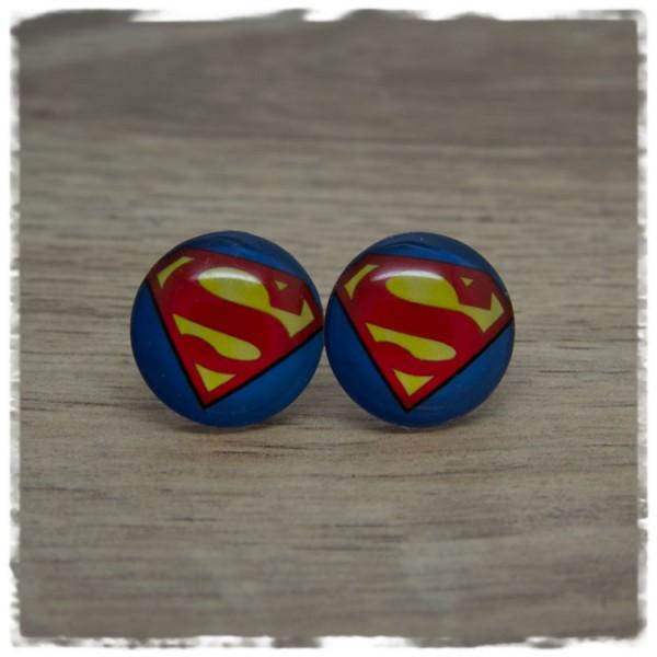 1 Paar Ohrstecker Superman
