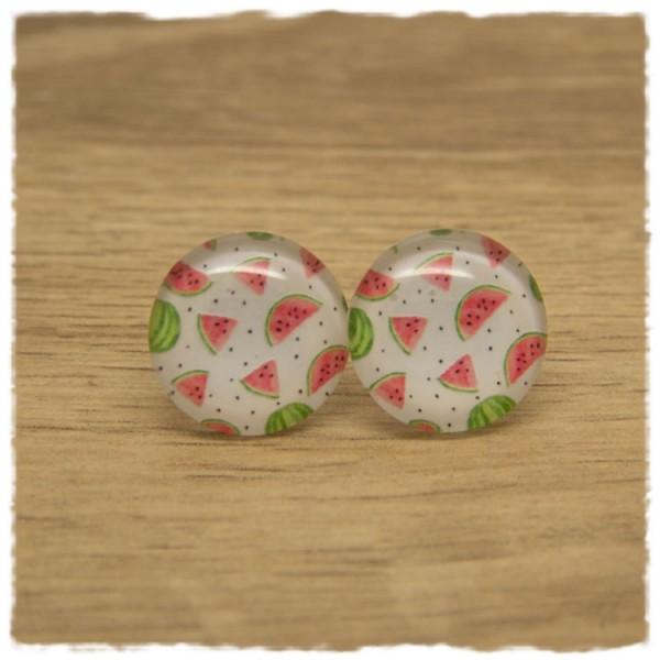 1 Paar Ohrstecker mit Wassermelonen