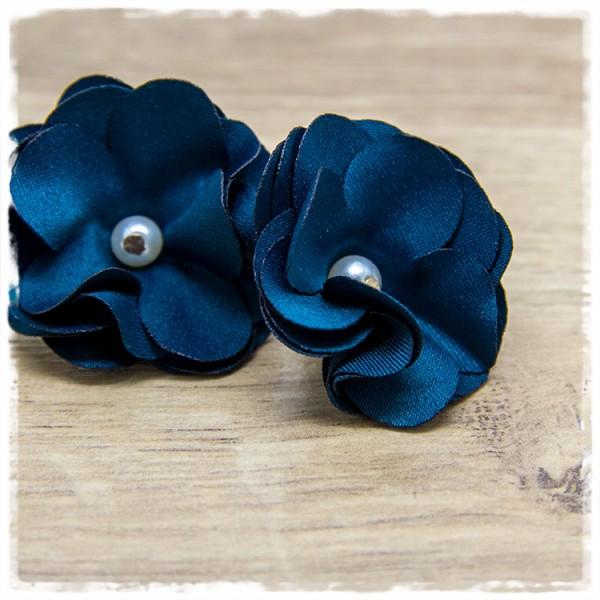 1 Paar Ohrhänger in 40 mm blaue Blüte