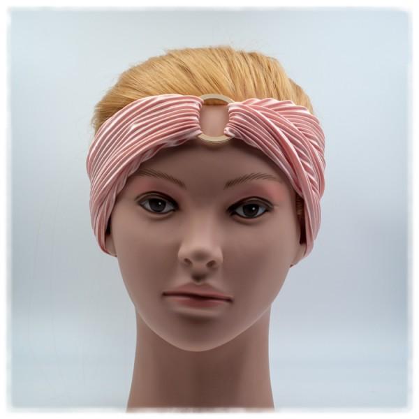 Haarband rosa mit goldenem Ring