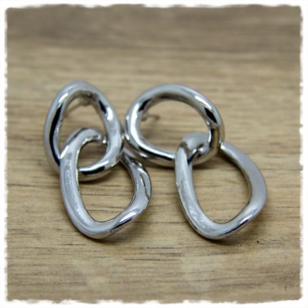 1 Paar Ohrhänger in 40 mm länglich silbern