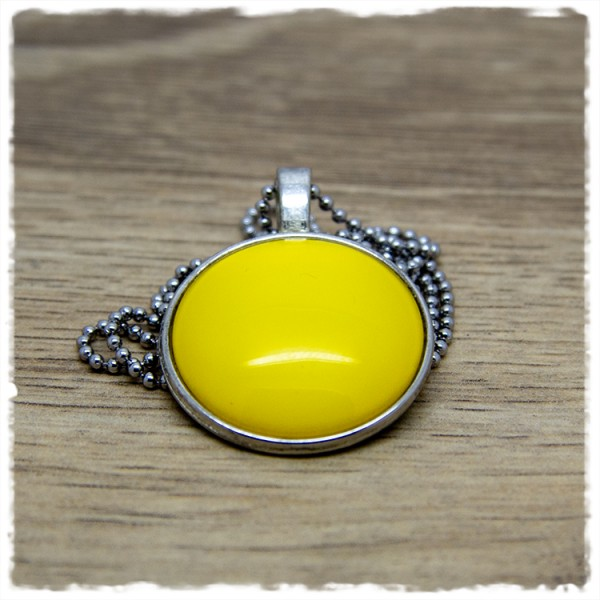 Kette 25mm einfarbig gelb