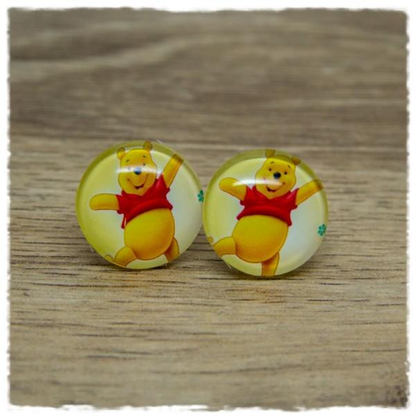 1 Paar Ohrstecker mit gelbem Bär