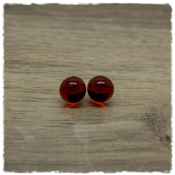 1 Paar Ohrstecker in 10 mm in braun