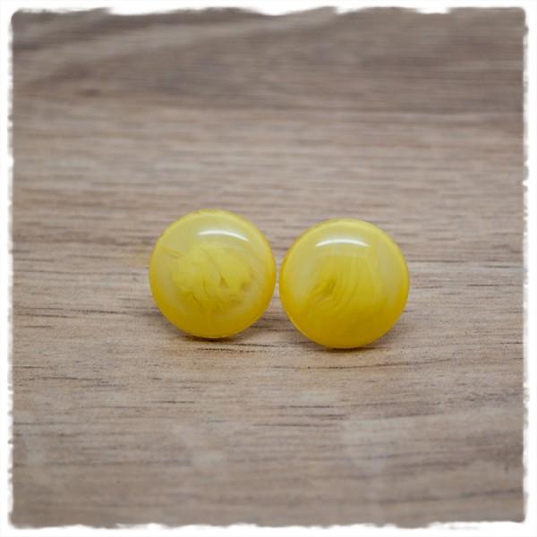 1 Paar Ohrstecker in 16 mm yellow