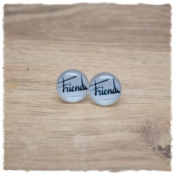 """1 Paar Ohrstecker 14 mm """"Friends"""""""