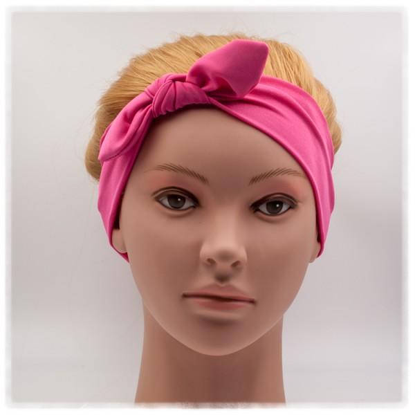 Haarband pink mit Schleife