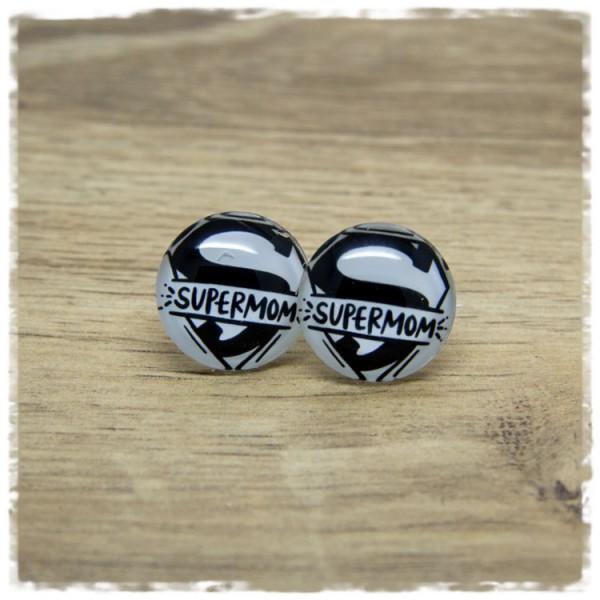 1 Paar Ohrstecker SUPERMOM