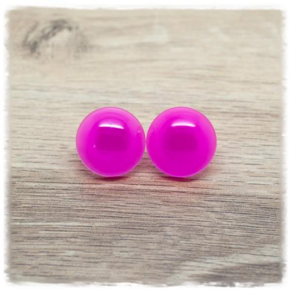 1 Paar Ohrstecker in 20 mm einfarbig pink