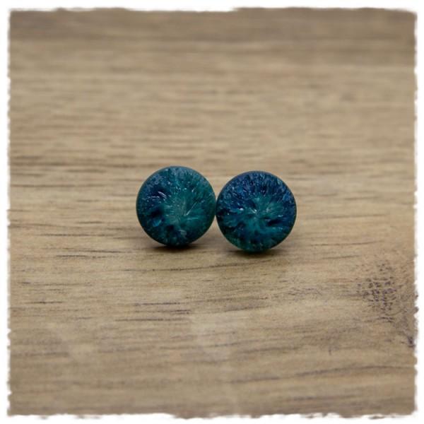 1 Paar Ohrstecker in 12 mm frosty blau