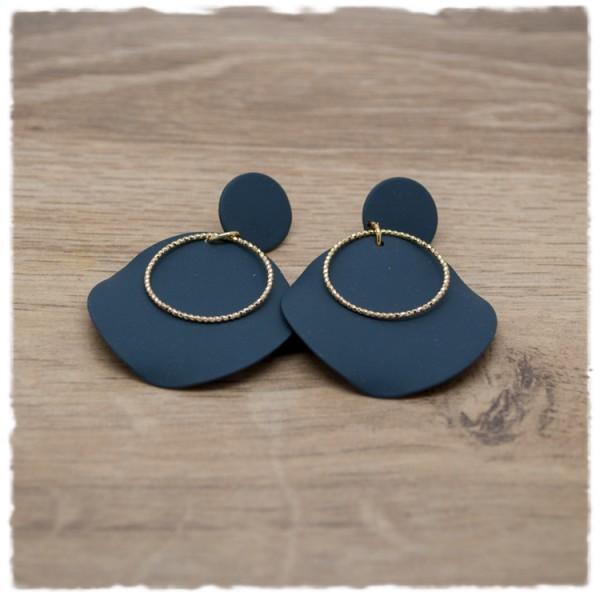 1 Paar Ohrhänger in 35 mm matt schwarz
