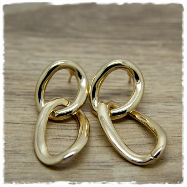 1 Paar Ohrhänger in 40 mm länglich golden
