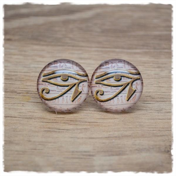 1 Paar Ohrstecker mit dem Auge des Re
