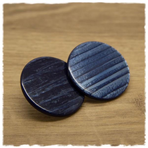 1 Paar flache Ohrstecker in 35 mm dunkelblau gemustert