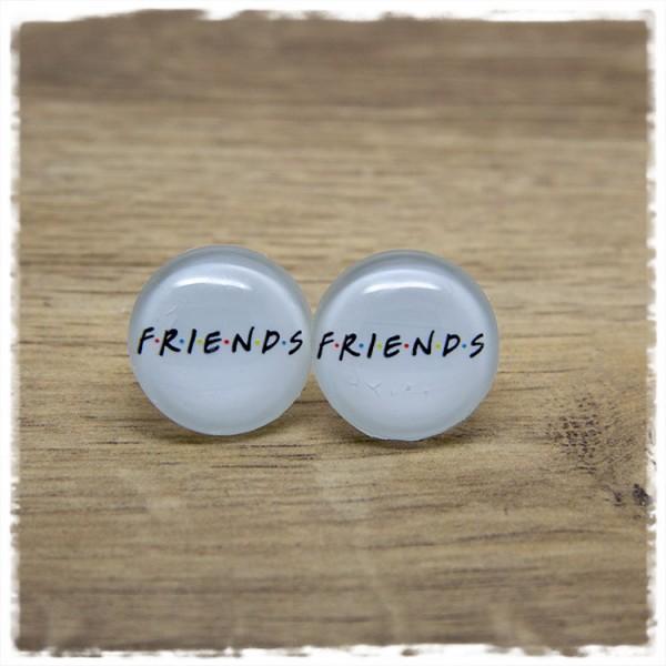 1 Paar Ohrstecker mit FRIENDS