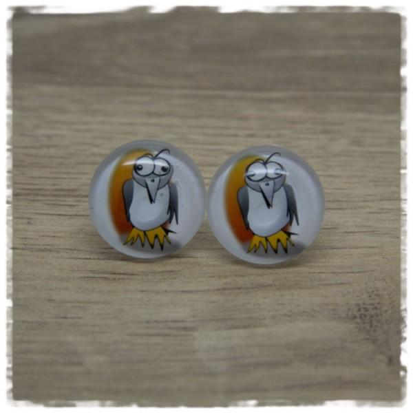 1 Paar Ohrstecker mit Vogel