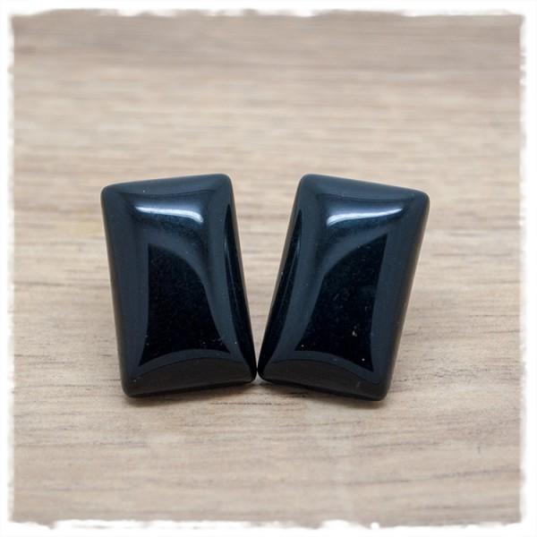1 Paar Ohrstecker rechteckig in 25 mm einfarbig schwarz