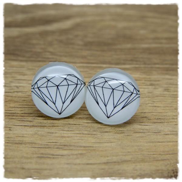 1 Paar Ohrstecker mit Diamant