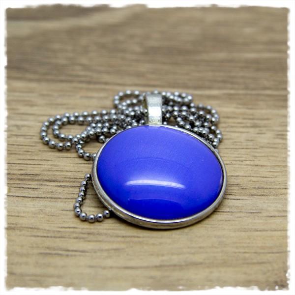 Kette 25mm einfarbig blau