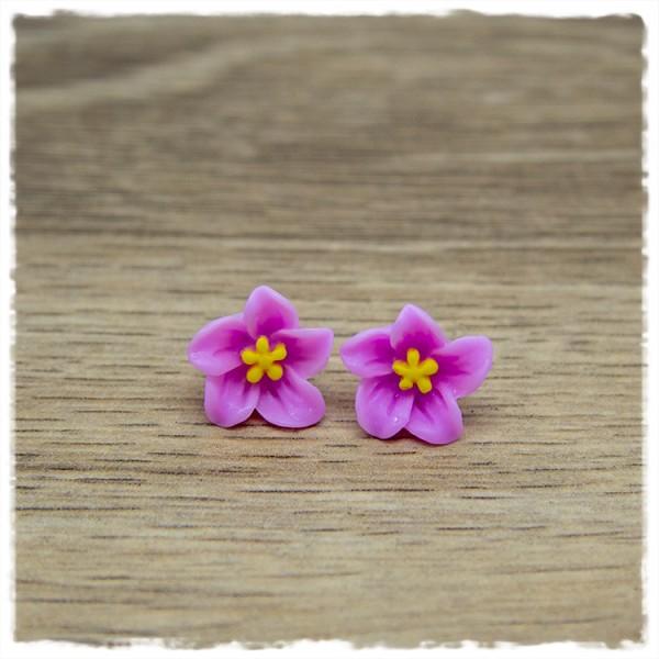 1 Paar Ohrstecker in 12 mm Blüte in light pink