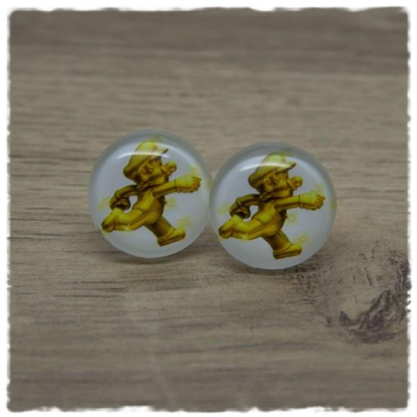 1 Paar Ohrstecker mit goldenem Klempner