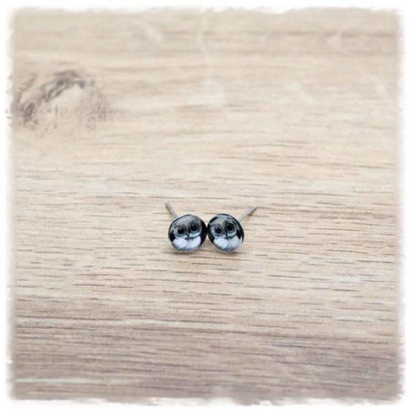 1 Paar Ohrstecker 8 mm mit Eule