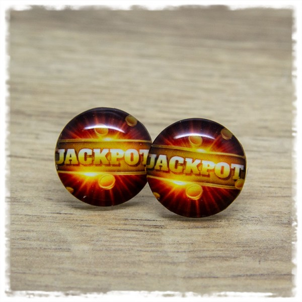 "1 Paar Ohrstecker in 20 mm ""Jackpot"""