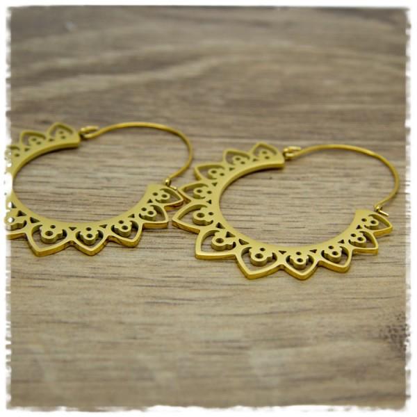 1 Paar Ohrhänger in 40 mm golden