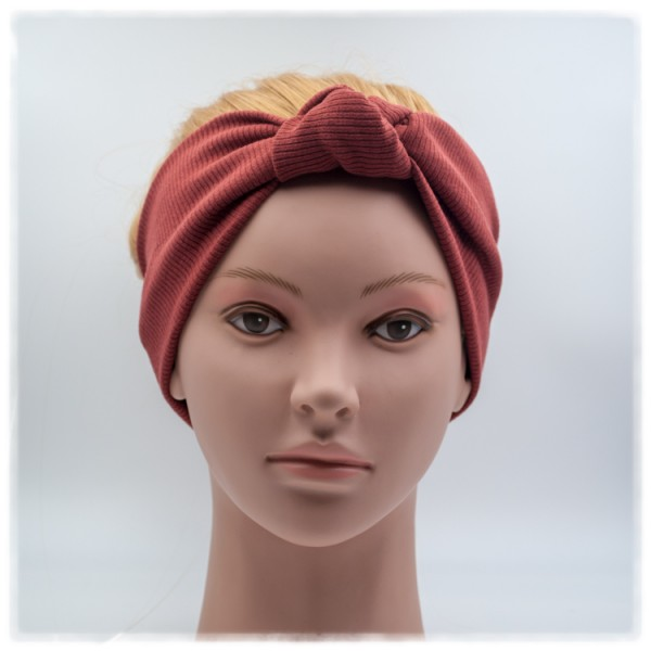 Haarband rotbraun mit Knoten