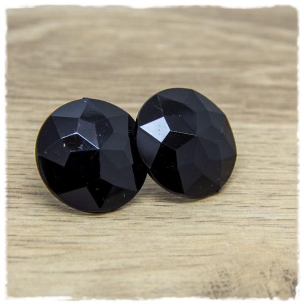 1 Paar Ohrstecker in 25 mm schwarz geschliffen